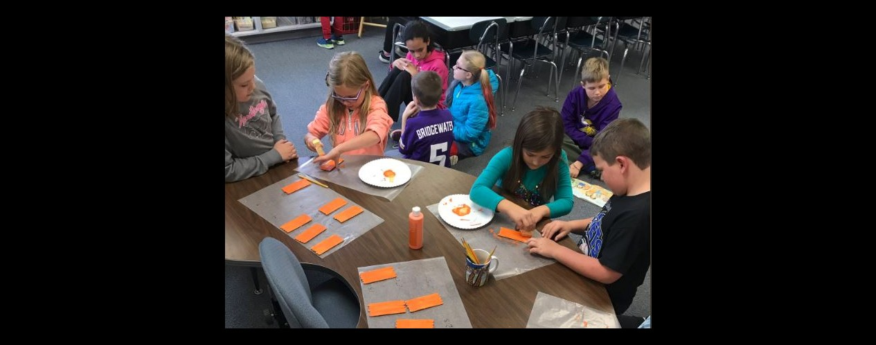 Mrs Bronk's Reading Buddies and Pumpkin Art