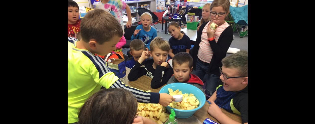 Making Applesauce in Mr. Meeker's Class