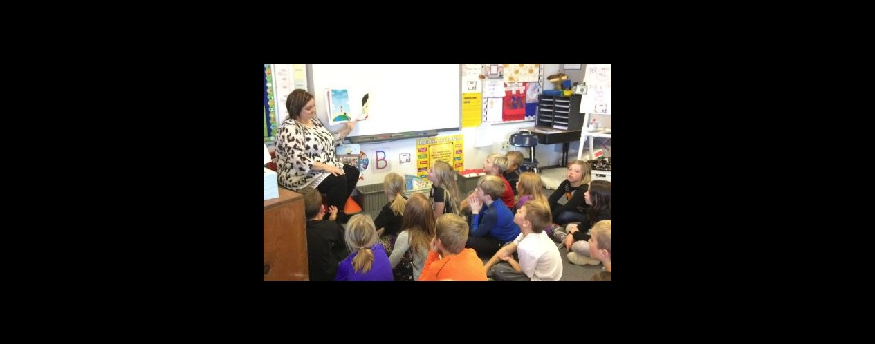 Mrs. Wright Reads to Class