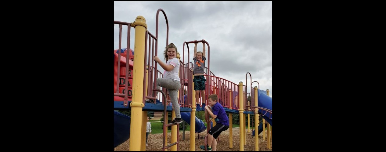 Photograph of students at recess